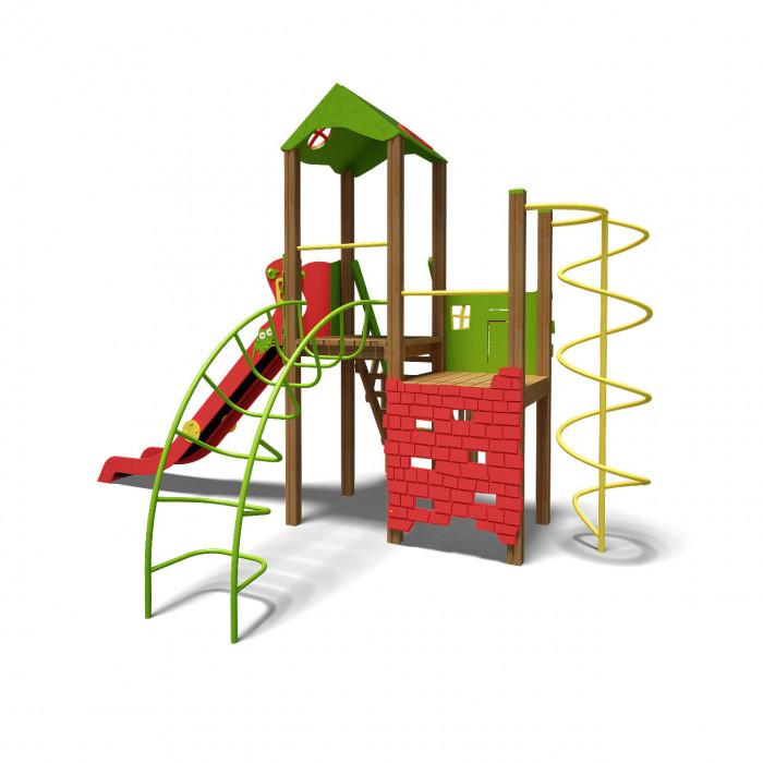 """Rotaļu komplekss """"Tornis"""" TE901N zaļš, sarkans"""