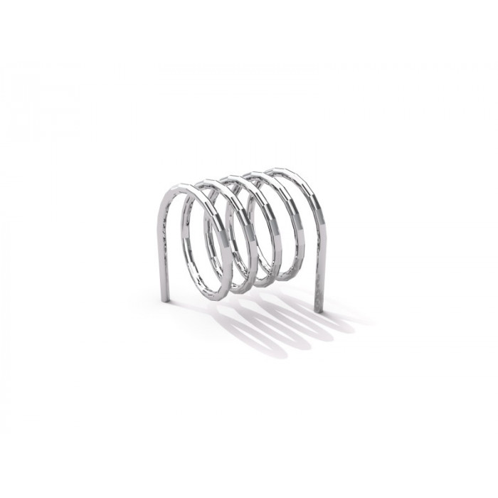 Stainless steel bicycle rack 10