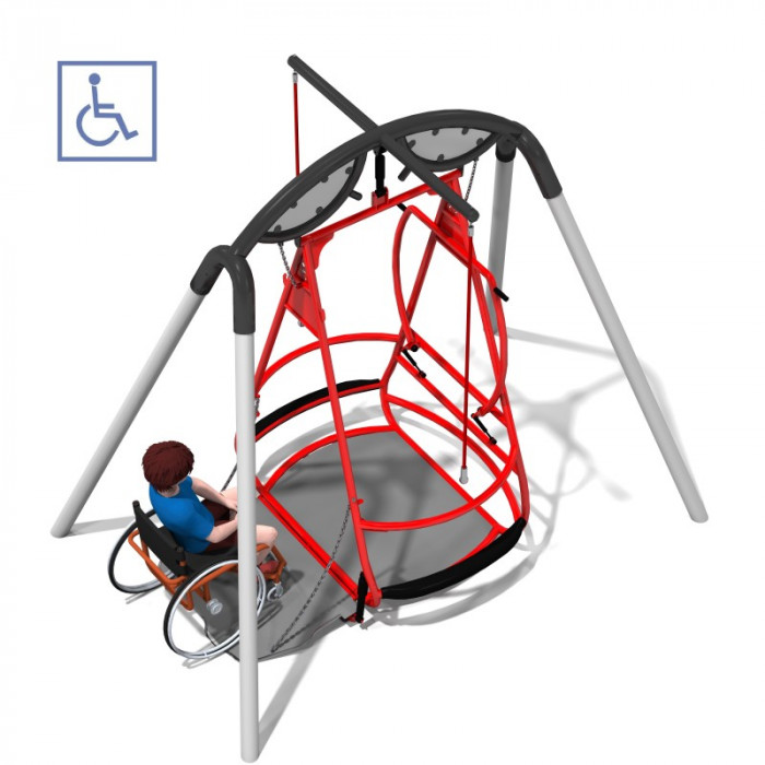 Wheelchair swing for children