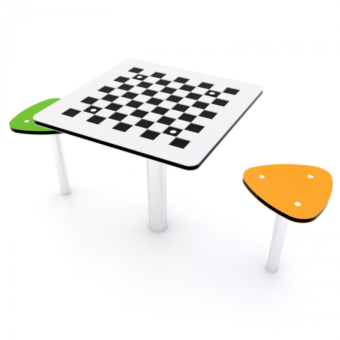 Dambretes galds ar soliņiem 0817